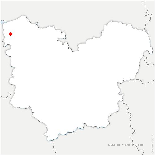 carte de localisation de Beuzeville
