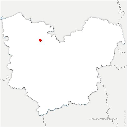 carte de localisation de Boissey-le-Châtel