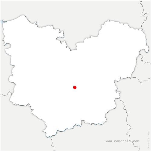 carte de localisation de Bonneville-sur-Iton