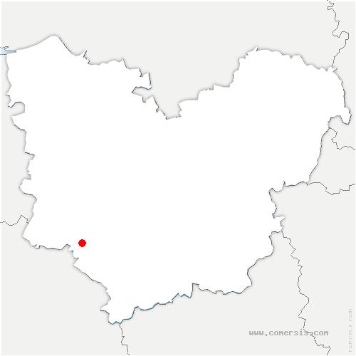 carte de localisation de Bottereaux