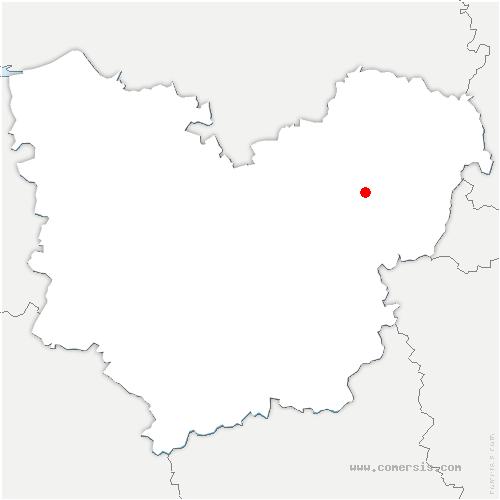 carte de localisation de Bouafles