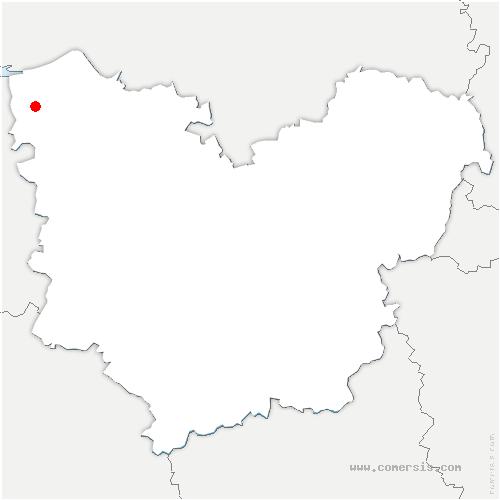 carte de localisation de Boulleville