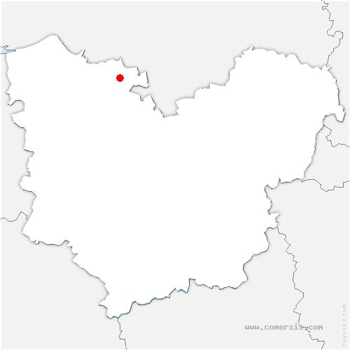 carte de localisation de Bouquetot
