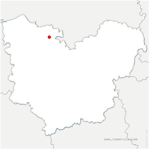 carte de localisation de Bourg-Achard