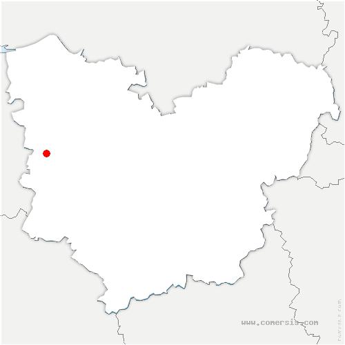 carte de localisation de Bournainville-Faverolles