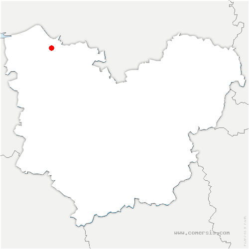 carte de localisation de Bourneville-Sainte-Croix