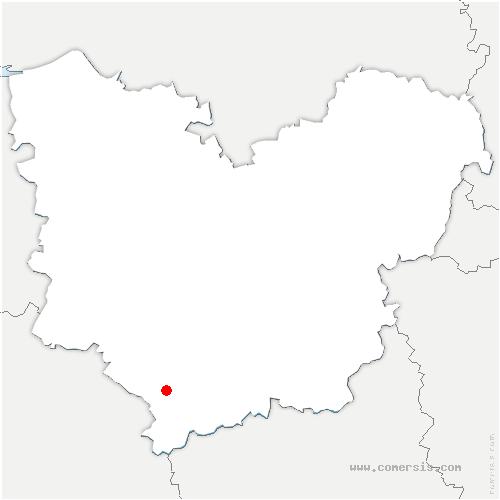 carte de localisation de Bourth