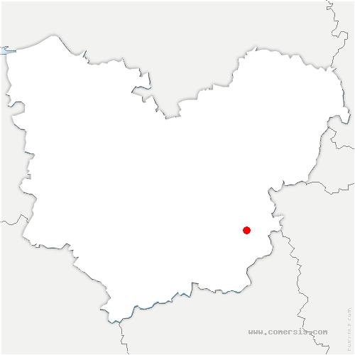 carte de localisation de Bretagnolles