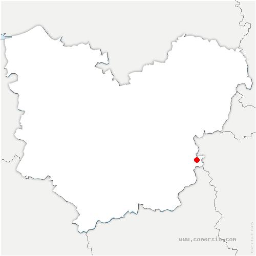 carte de localisation de Breuilpont