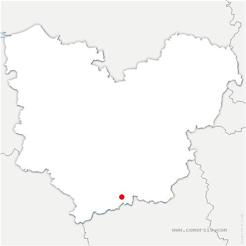 carte de localisation de Breux-sur-Avre
