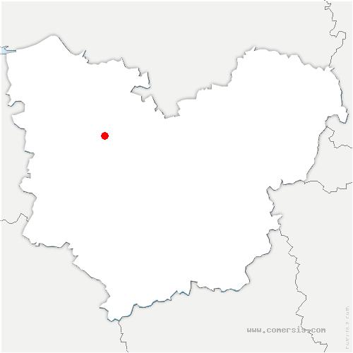 carte de localisation de Brionne