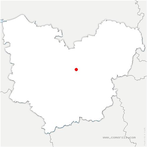 carte de localisation de Brosville