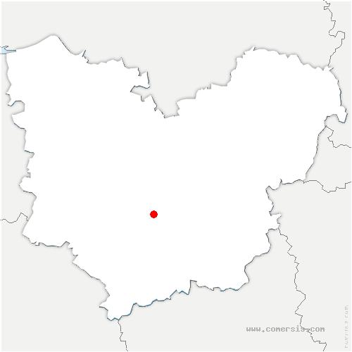 carte de localisation de Burey