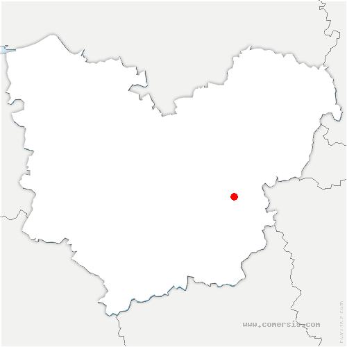 carte de localisation de Caillouet-Orgeville