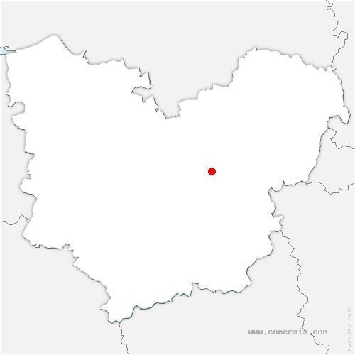 carte de localisation de Cailly-sur-Eure