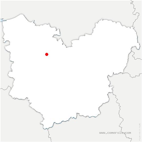 carte de localisation de Calleville