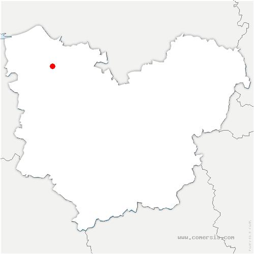 carte de localisation de Campigny