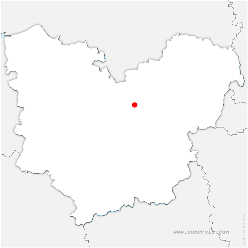 carte de localisation de Canappeville
