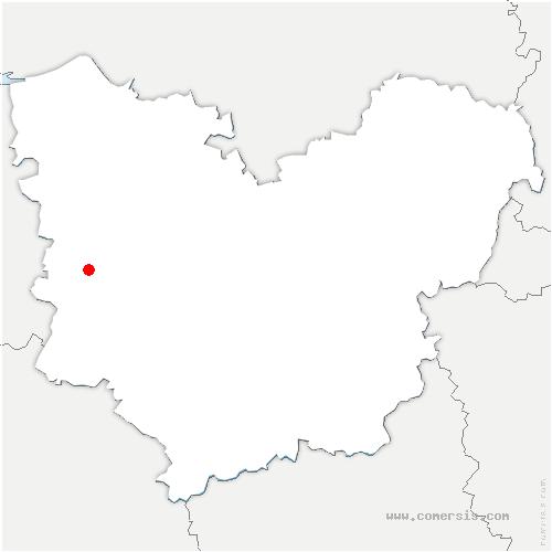 carte de localisation de Caorches-Saint-Nicolas