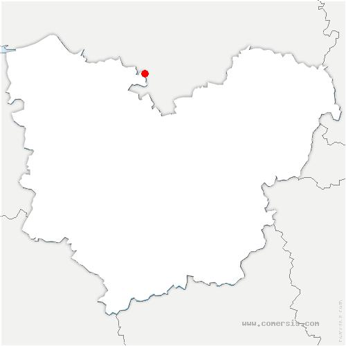 carte de localisation de Caumont
