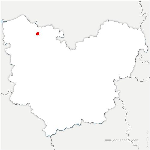 carte de localisation de Cauverville-en-Roumois
