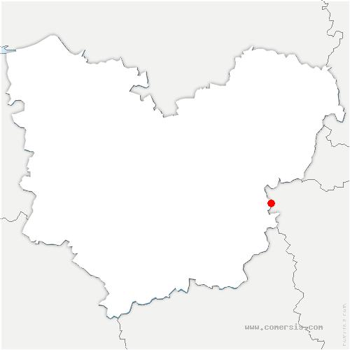 carte de localisation de Chaignes