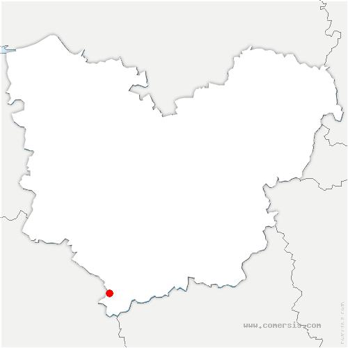 carte de localisation de Chaise-Dieu-du-Theil