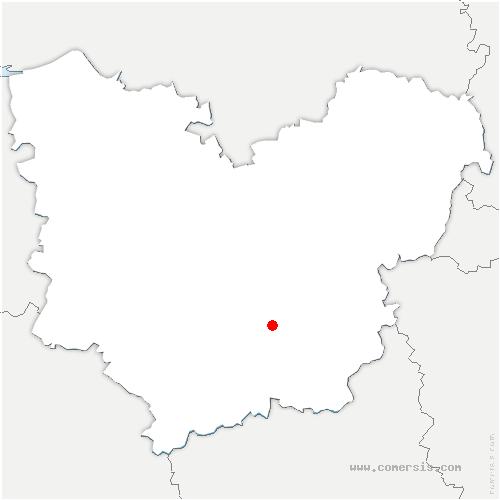 carte de localisation de Chambois
