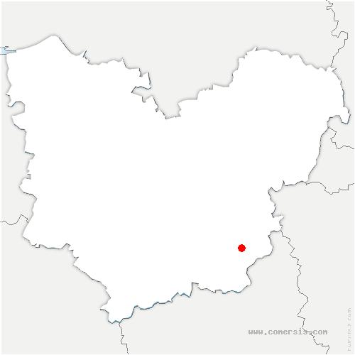 carte de localisation de Champigny-la-Futelaye
