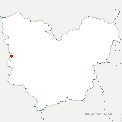 carte de localisation de Chapelle-Hareng
