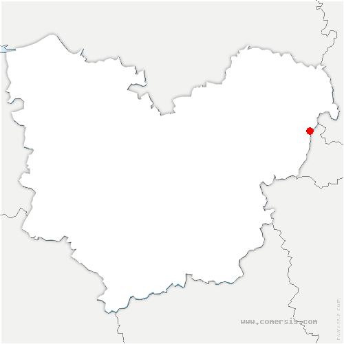 carte de localisation de Château-sur-Epte