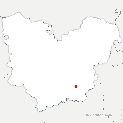 carte de localisation de Chavigny-Bailleul