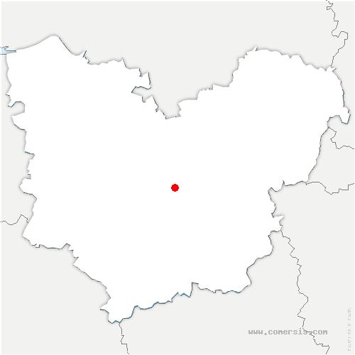 carte de localisation de Claville