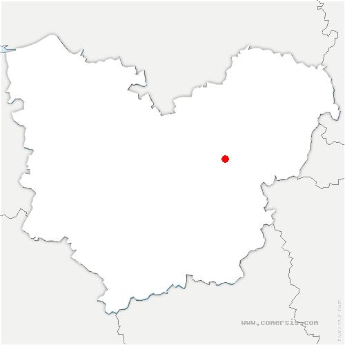 carte de localisation de Clef-Vallée-d'Eure