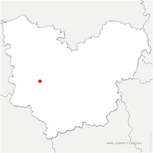 carte de localisation de Corneville-la-Fouquetière