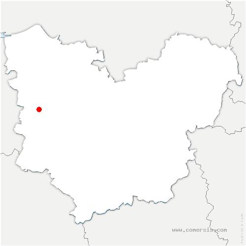 carte de localisation de Courbépine