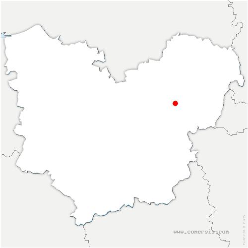 carte de localisation de Courcelles-sur-Seine