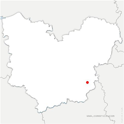 carte de localisation de Couture-Boussey