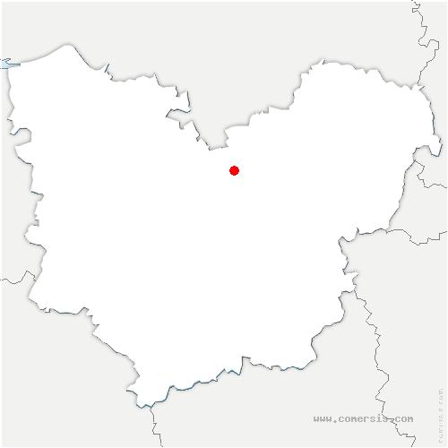 carte de localisation de Crasville