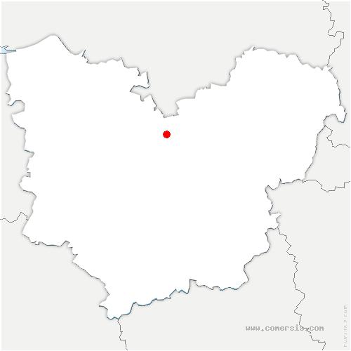 carte de localisation de Criquebeuf-la-Campagne
