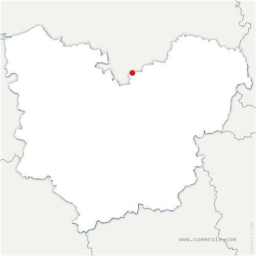 carte de localisation de Criquebeuf-sur-Seine