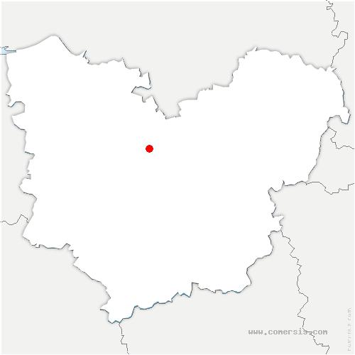 carte de localisation de Crosville-la-Vieille