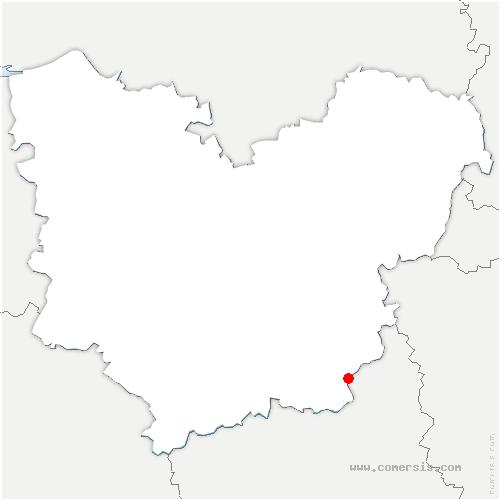 carte de localisation de Croth