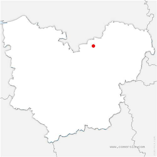 carte de localisation de Damps