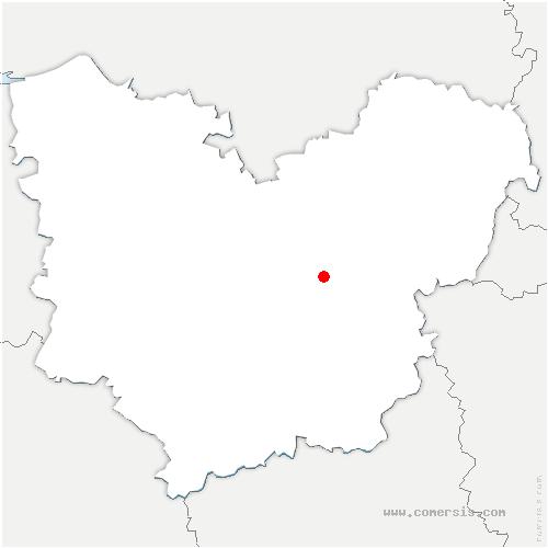 carte de localisation de Dardez