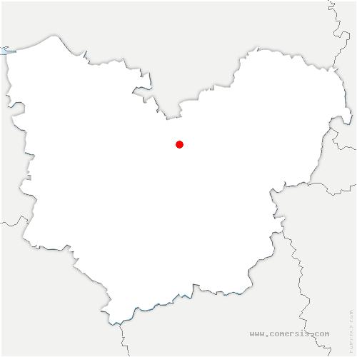 carte de localisation de Daubeuf-la-Campagne