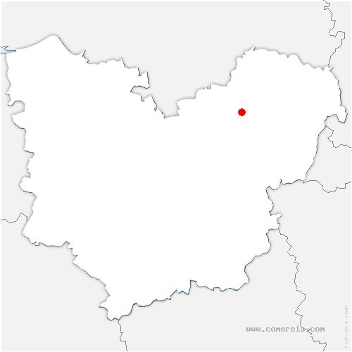 carte de localisation de Daubeuf-près-Vatteville