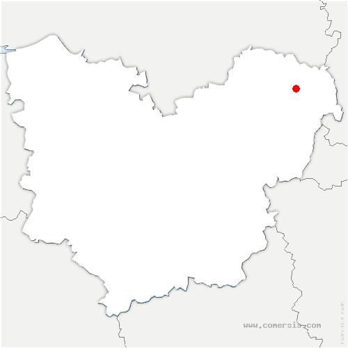 carte de localisation de Doudeauville-en-Vexin