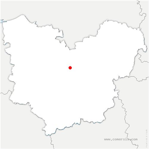 carte de localisation de Écauville