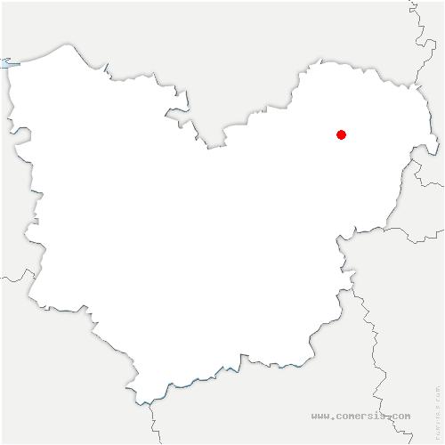 carte de localisation de Écouis